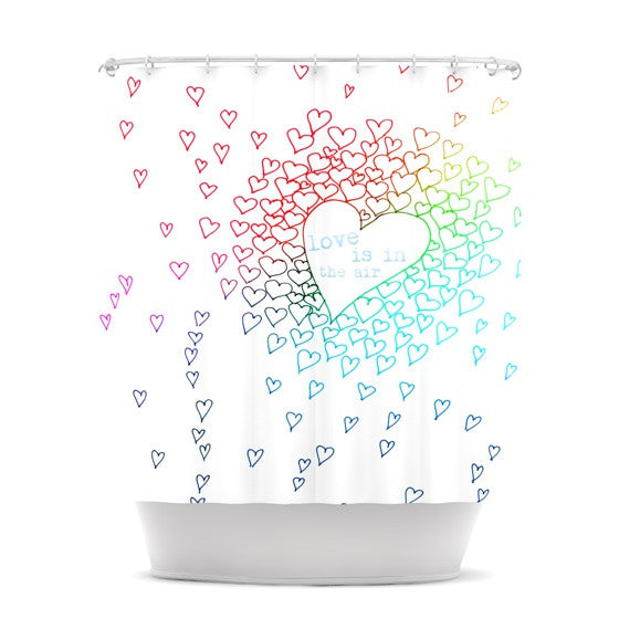 "Monika Strigel ""Rainbow Hearts"" Shower Curtain - KESS InHouse"