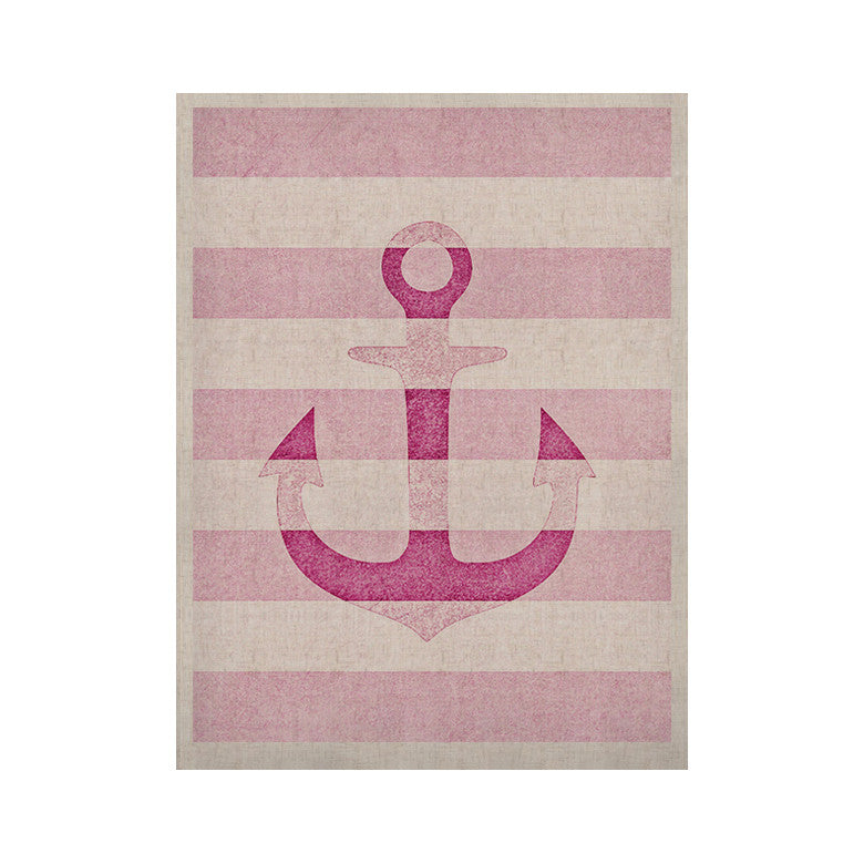 "Monika Strigel ""Stone Vintage Pink Anchor"" KESS Naturals Canvas (Frame not Included) - KESS InHouse  - 1"