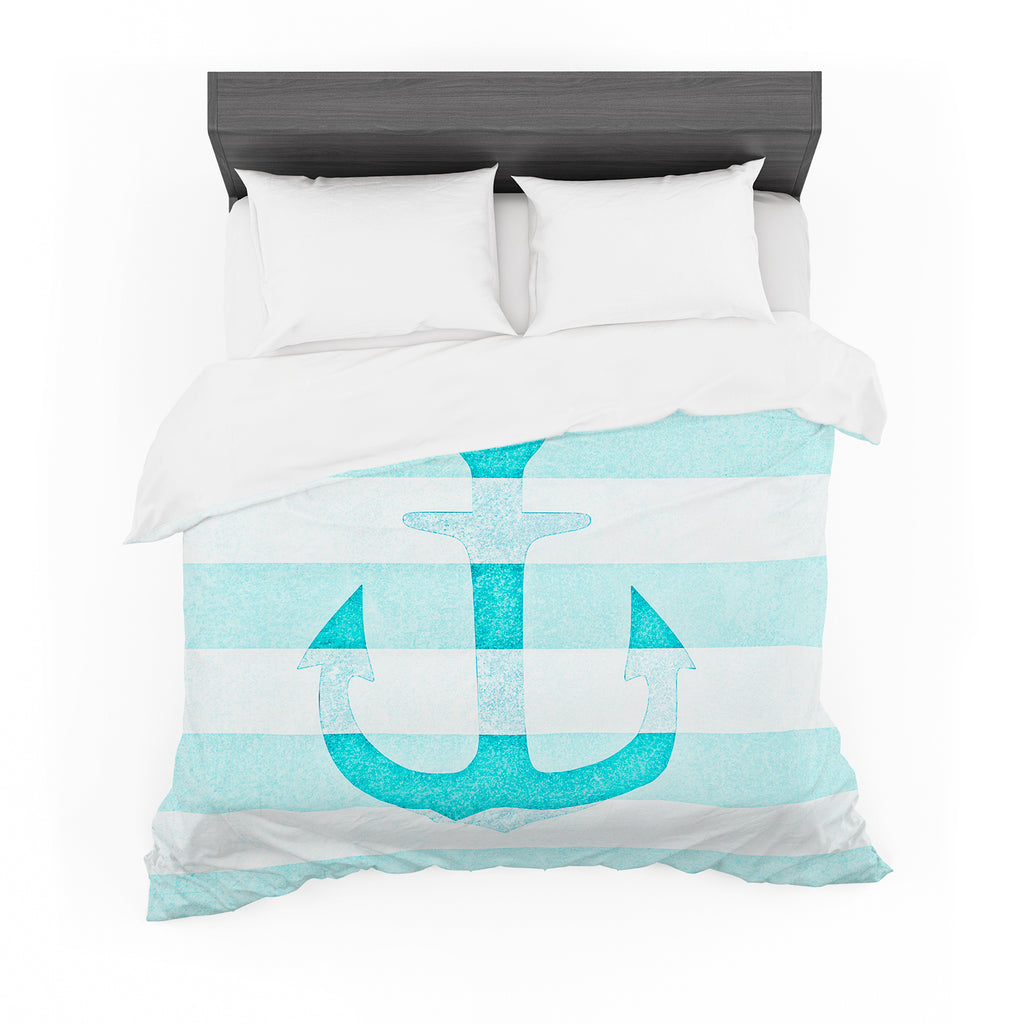 "Monika Strigel ""Stone Vintage Aqua Anchor"" Featherweight Duvet"