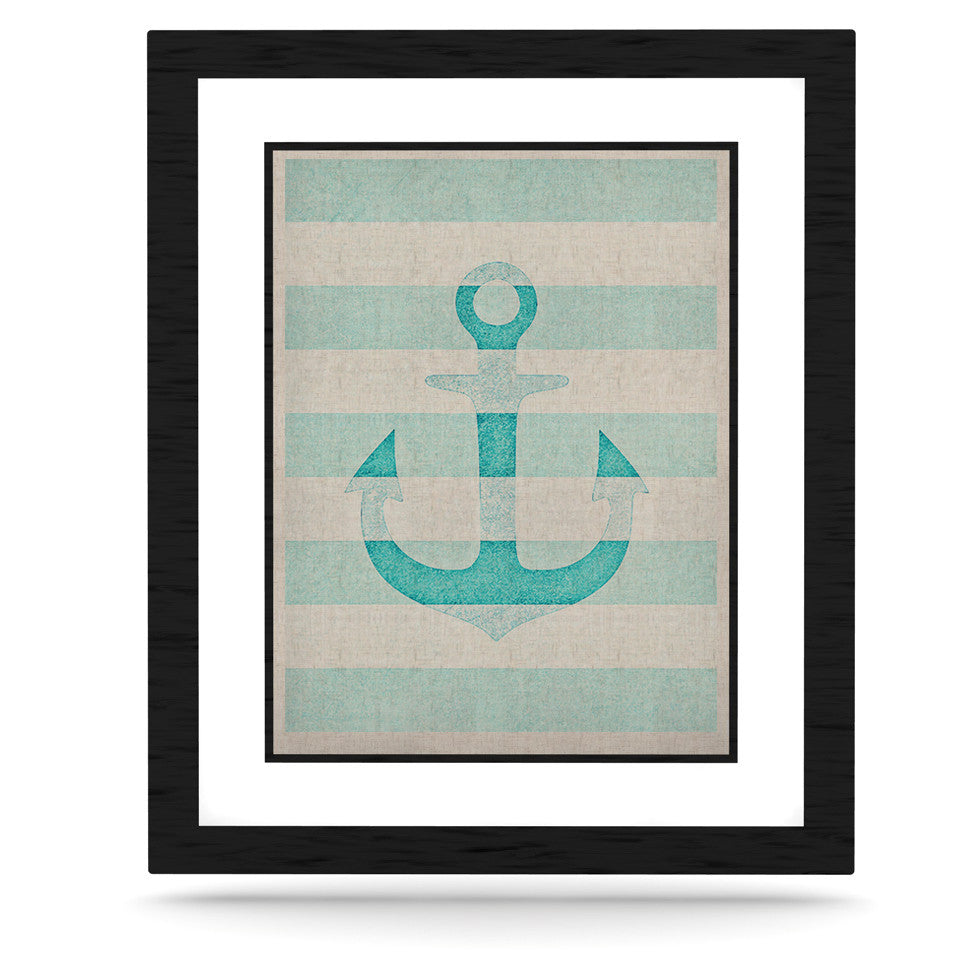"Monika Strigel ""Stone Vintage Aqua Anchor"" KESS Naturals Canvas (Frame not Included) - KESS InHouse  - 1"