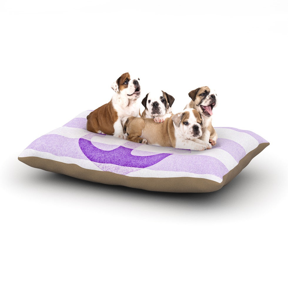 "Monika Strigel ""Stone Vintage Purple Anchor"" Dog Bed - KESS InHouse  - 1"