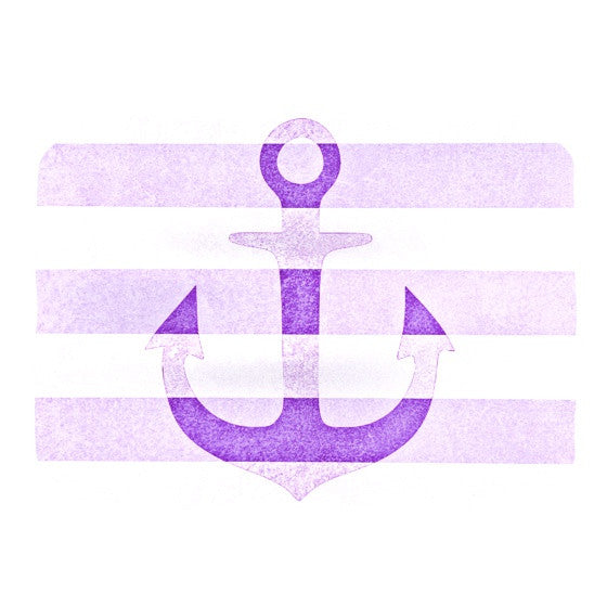 "Monika Strigel ""Stone Vintage Purple Anchor""  Place Mat - KESS InHouse"