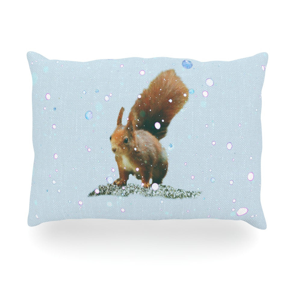 "Monika Strigel ""Squirrel"" Oblong Pillow - KESS InHouse"