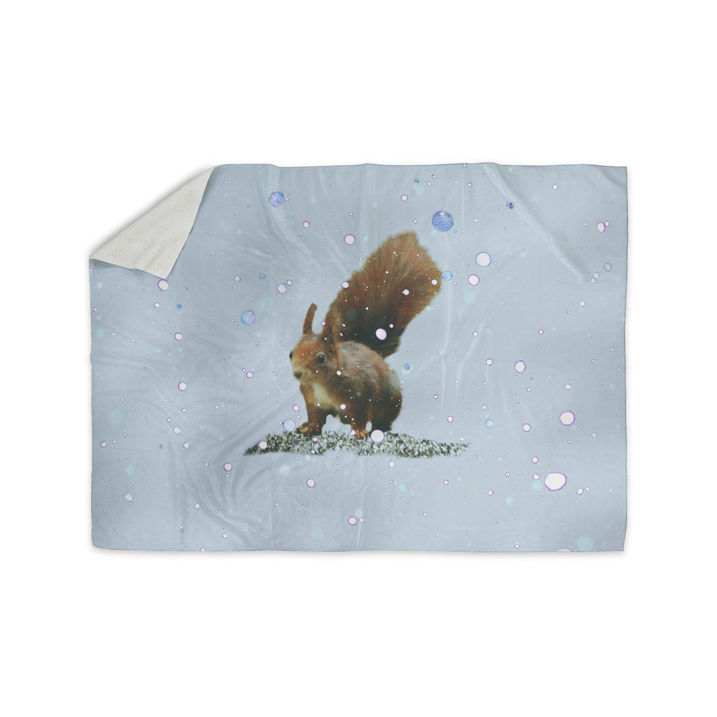 "Monika Strigel ""Squirrel"" Sherpa Blanket - KESS InHouse  - 1"