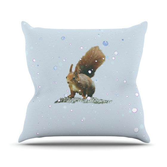 "Monika Strigel ""Squirrel"" Outdoor Throw Pillow - KESS InHouse  - 1"