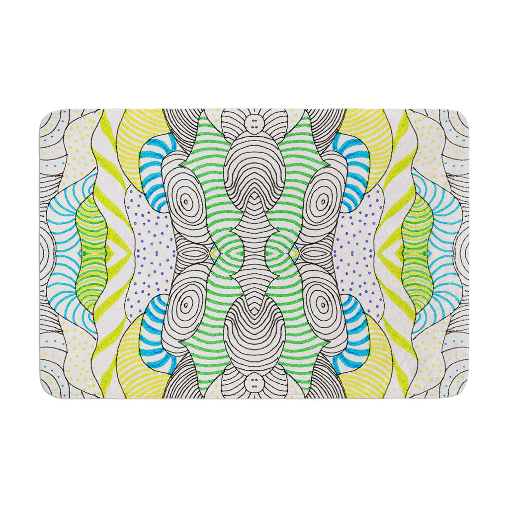 "Monika Strigel ""Wormland"" Memory Foam Bath Mat - KESS InHouse"