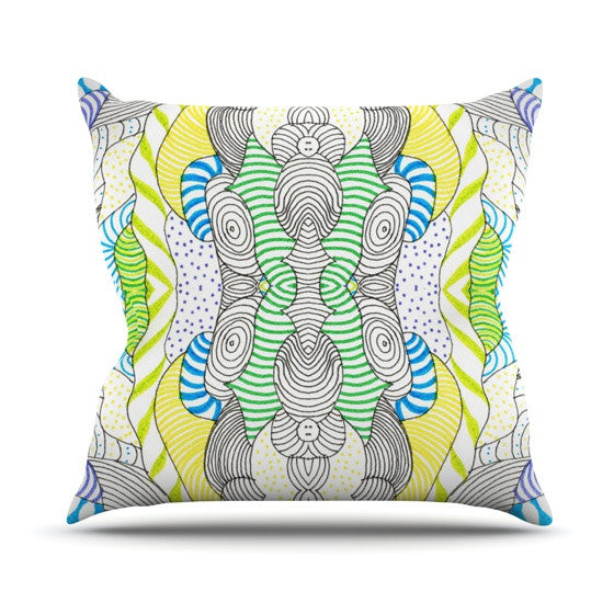 "Monika Strigel ""Wormland""  Throw Pillow - KESS InHouse  - 1"
