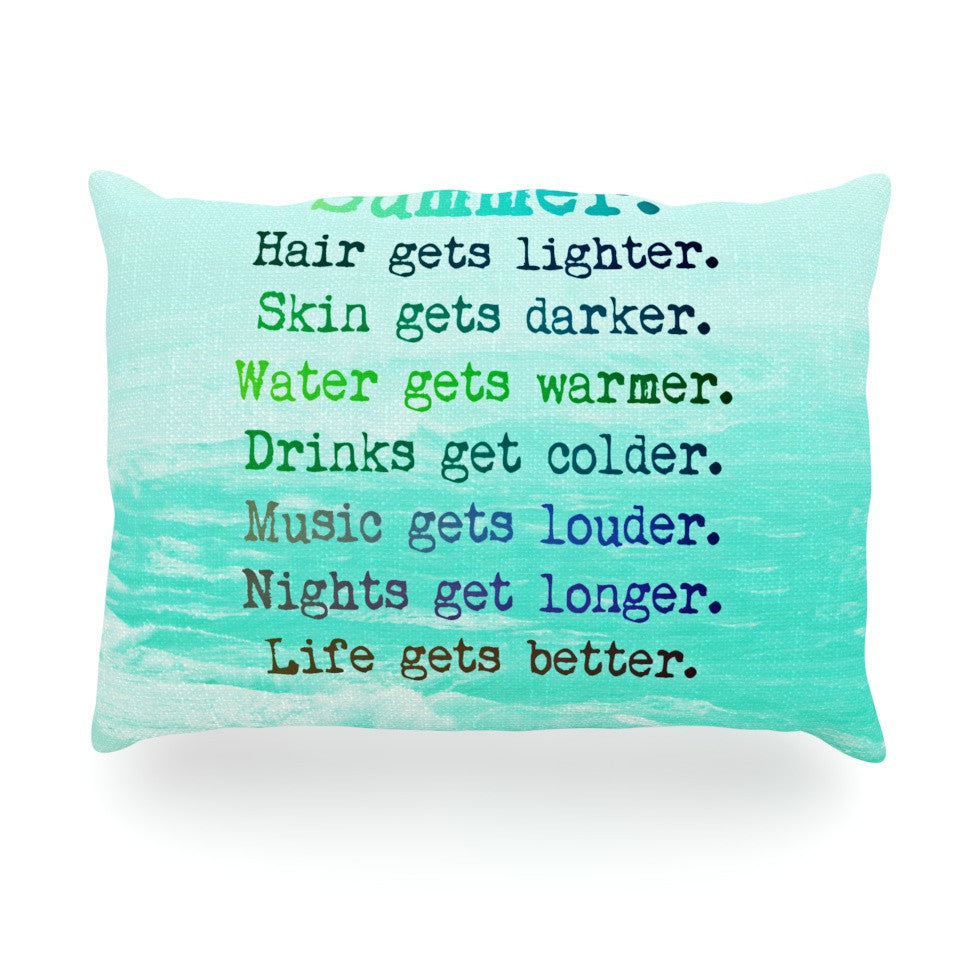 "Monika Strigel ""Summer XXL"" Oblong Pillow - KESS InHouse"