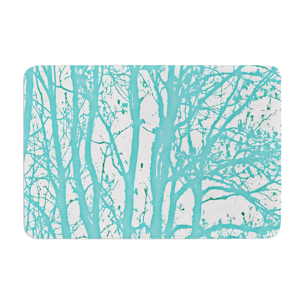 "Monika Strigel ""Mint Trees"" Memory Foam Bath Mat - KESS InHouse"