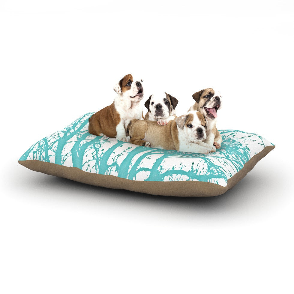 "Monika Strigel ""Mint Trees"" Dog Bed - KESS InHouse  - 1"