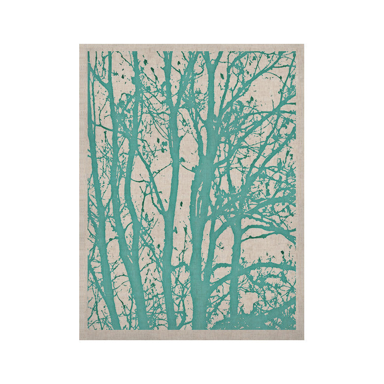 "Monika Strigel ""Mint Trees"" KESS Naturals Canvas (Frame not Included) - KESS InHouse  - 1"