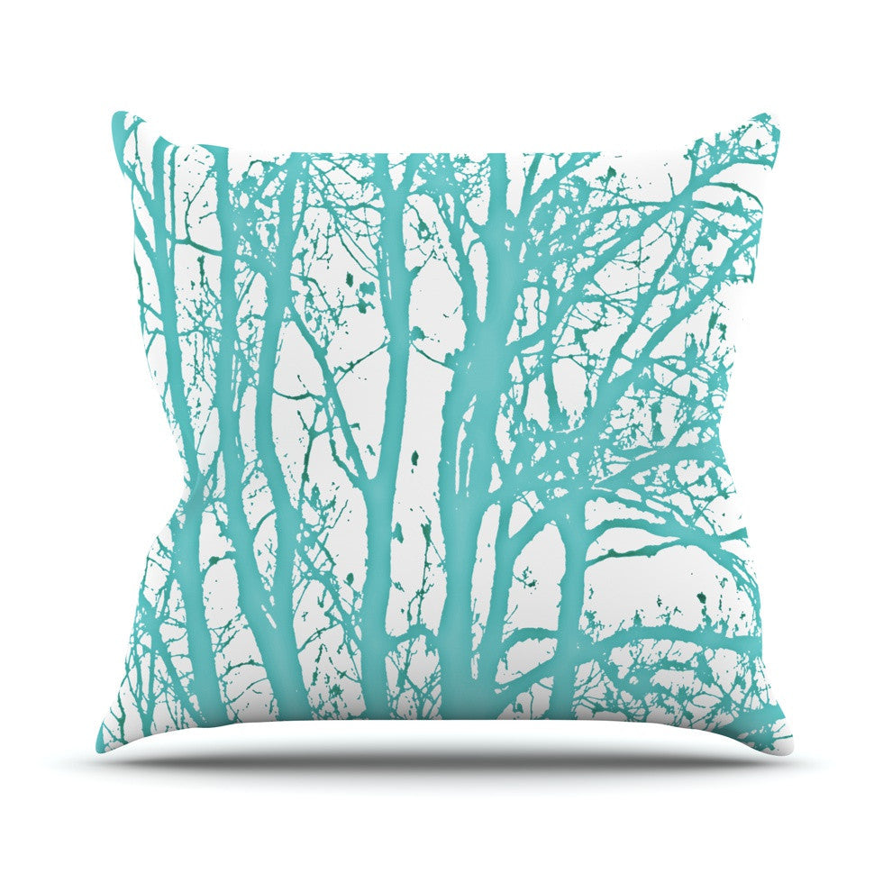 "Monika Strigel ""Mint Trees"" Throw Pillow - KESS InHouse  - 1"