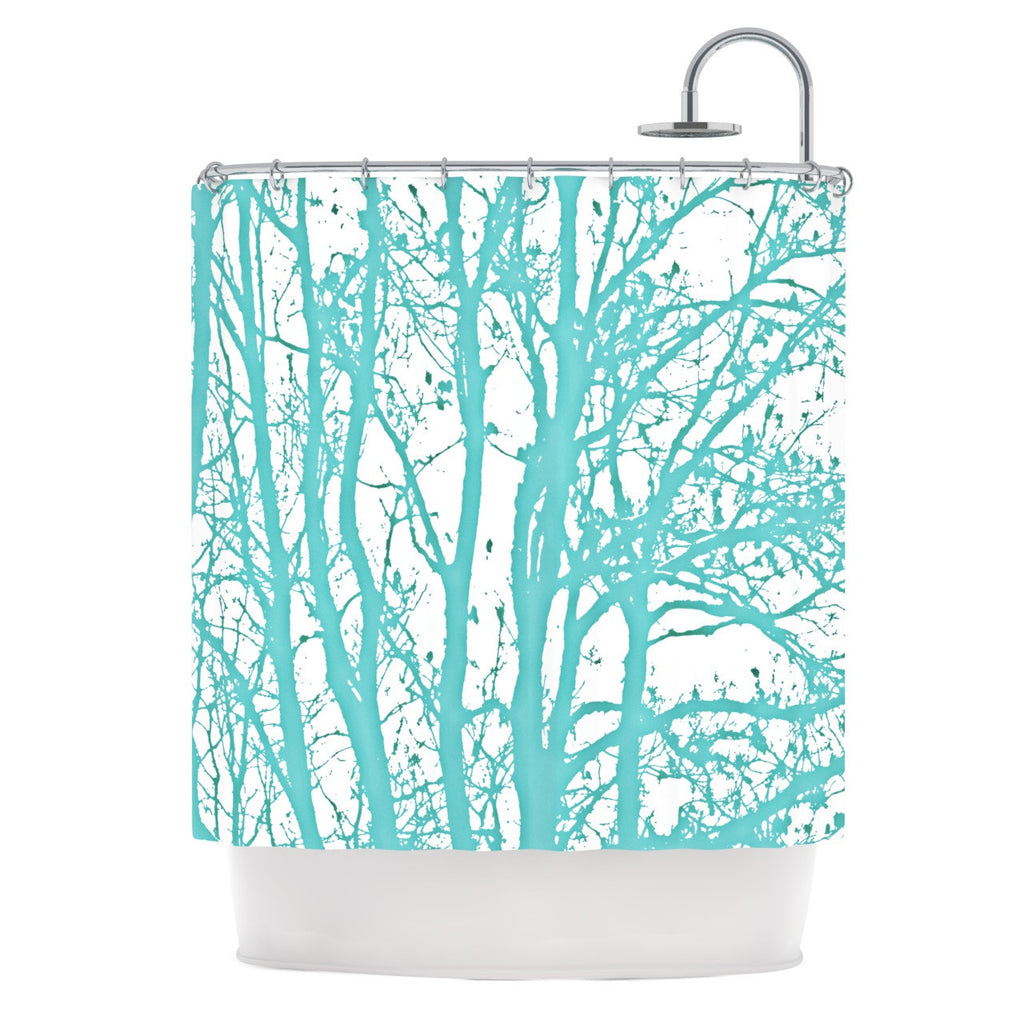 "Monika Strigel ""Mint Trees"" Shower Curtain - KESS InHouse"