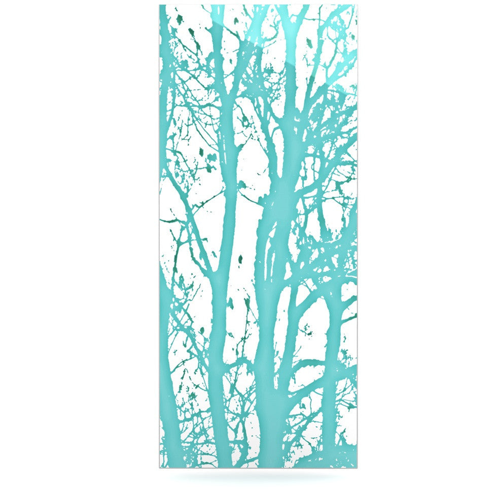 "Monika Strigel ""Mint Trees"" Luxe Rectangle Panel - KESS InHouse  - 1"