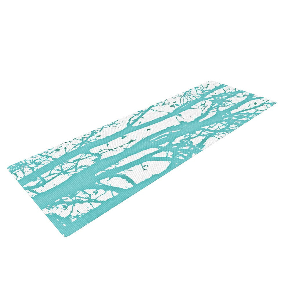 "Monika Strigel ""Mint Trees"" Yoga Mat - KESS InHouse  - 1"