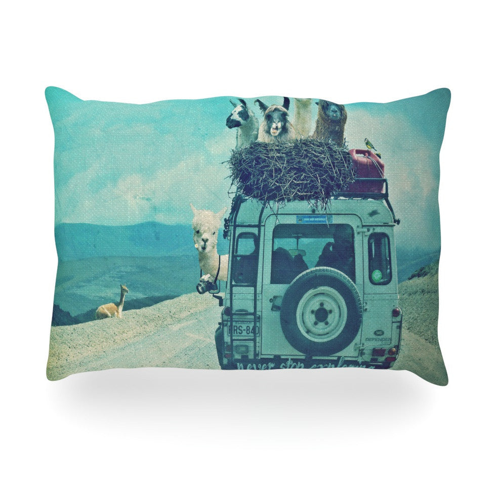 "Monika Strigel ""Never Stop Exploring III"" Oblong Pillow - KESS InHouse"