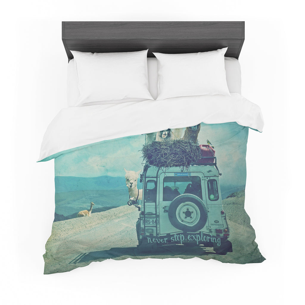 "Monika Strigel ""Never Stop Exploring III"" Cotton Duvet"