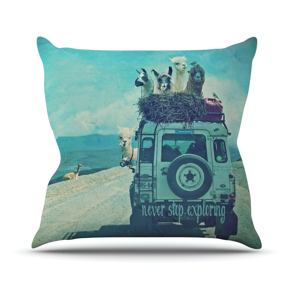 "Monika Strigel ""Never Stop Exploring III"" Outdoor Throw Pillow - KESS InHouse  - 1"
