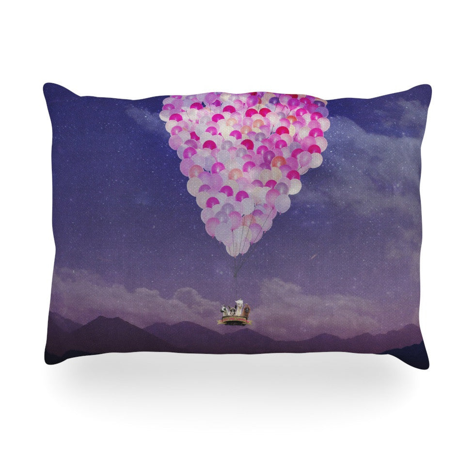 "Monika Strigel ""Never Stop Exploring IV"" Oblong Pillow - KESS InHouse"