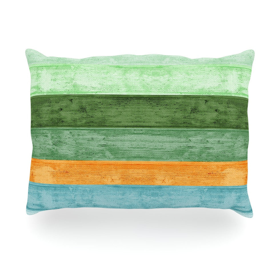 "Monika Strigel ""Beach Wood Blue"" Oblong Pillow - KESS InHouse"