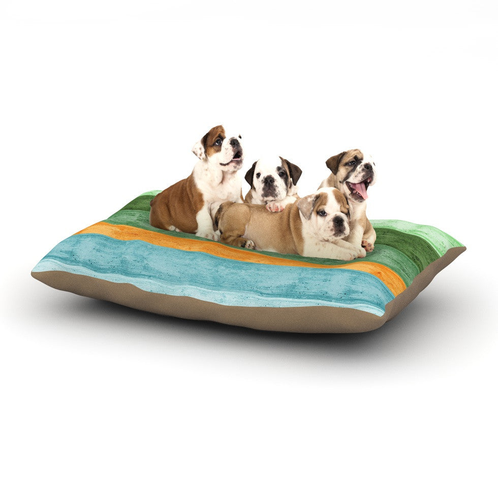 "Monika Strigel ""Beach Wood Blue"" Dog Bed - KESS InHouse  - 1"
