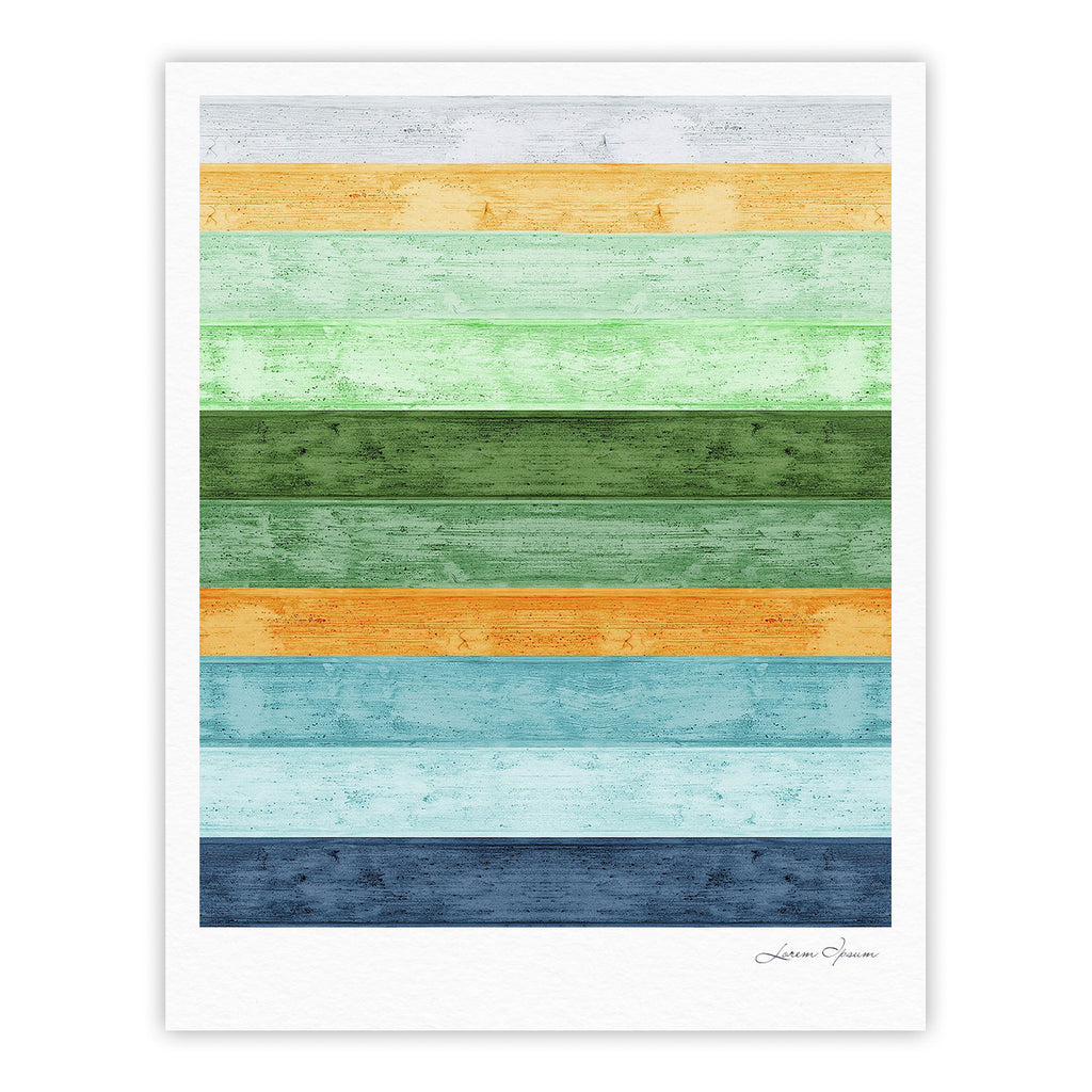 "Monika Strigel ""Beach Wood Blue"" Fine Art Gallery Print - KESS InHouse"