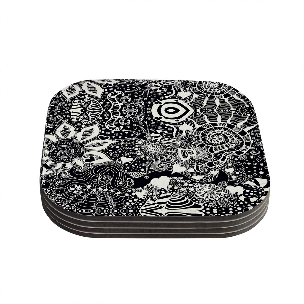 "Monika Strigel ""Neptunes Garden"" Coasters (Set of 4)"