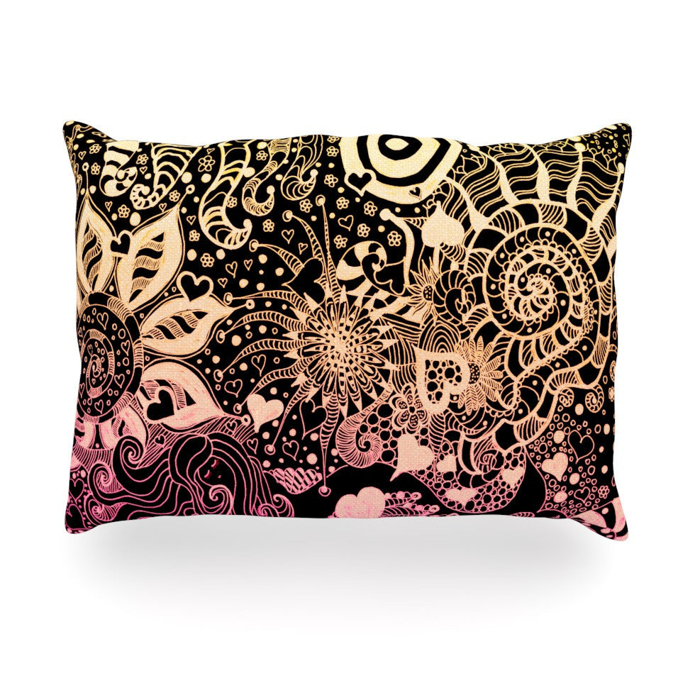 "Monika Strigel ""Neptunes Garden II"" Oblong Pillow - KESS InHouse"