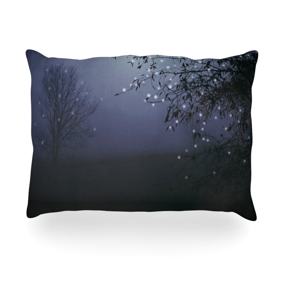 "Monika Strigel ""Song of the Nightbird"" Oblong Pillow - KESS InHouse"