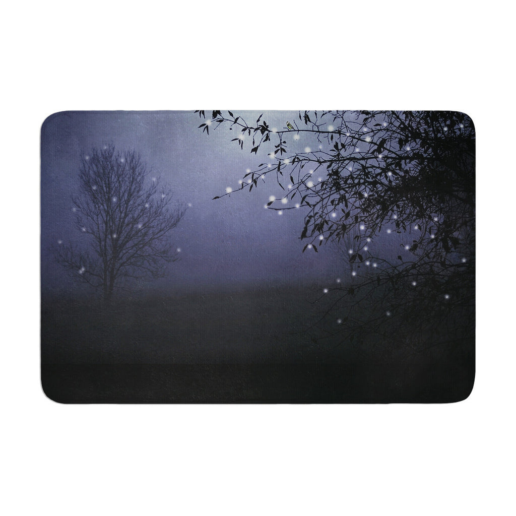 "Monika Strigel ""Song of the Nightbird"" Memory Foam Bath Mat - KESS InHouse"