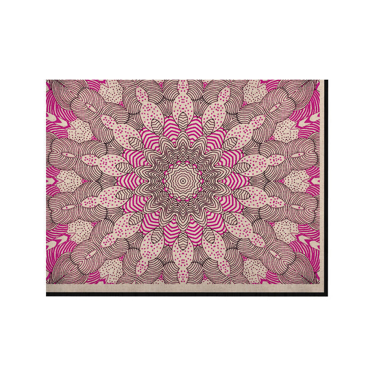 "Monika Strigel ""Dots and Stripes Pink"" KESS Naturals Canvas (Frame not Included) - KESS InHouse  - 1"