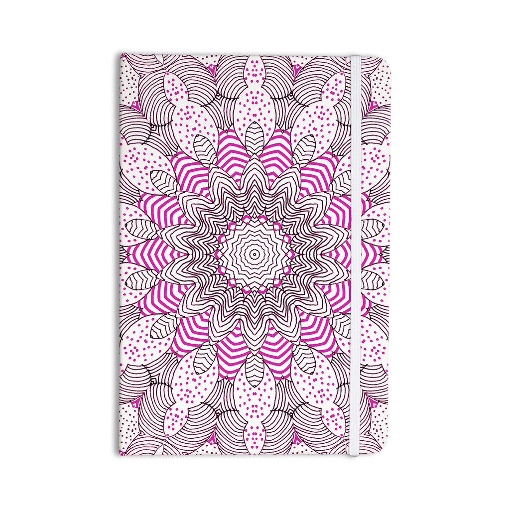 "Monika Strigel ""Dots and Stripes Pink"" Everything Notebook - KESS InHouse  - 1"
