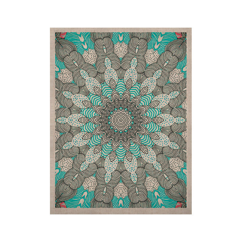 "Monika Strigel ""Dots and Stripes Mint"" KESS Naturals Canvas (Frame not Included) - KESS InHouse  - 1"