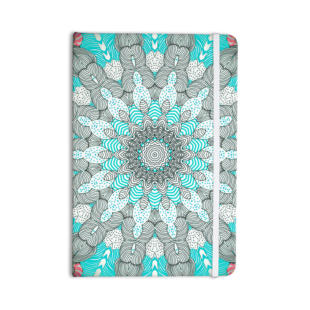 "Monika Strigel ""Dots and Stripes Mint"" Everything Notebook - KESS InHouse  - 1"
