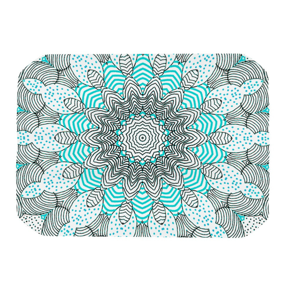 "Monika Strigel ""Dots and Stripes Mint"" Place Mat - KESS InHouse"