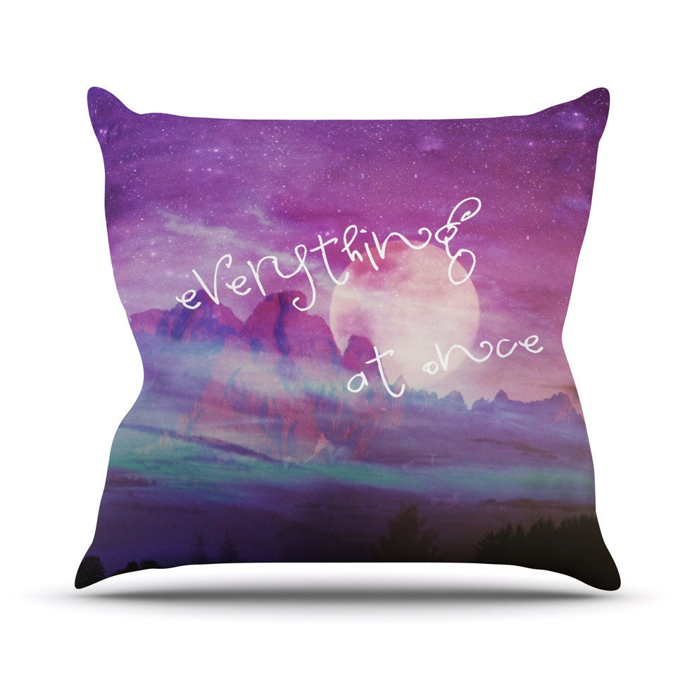 "Monika Strigel ""Everything at Once"" Throw Pillow - KESS InHouse  - 1"