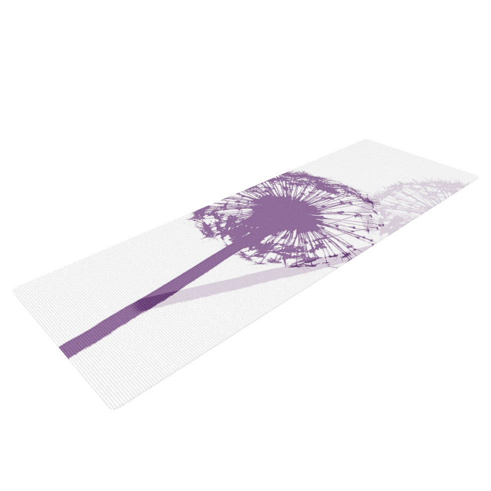 "Monika Strigel ""Dandelion"" Purple Flower Yoga Mat - KESS InHouse  - 1"