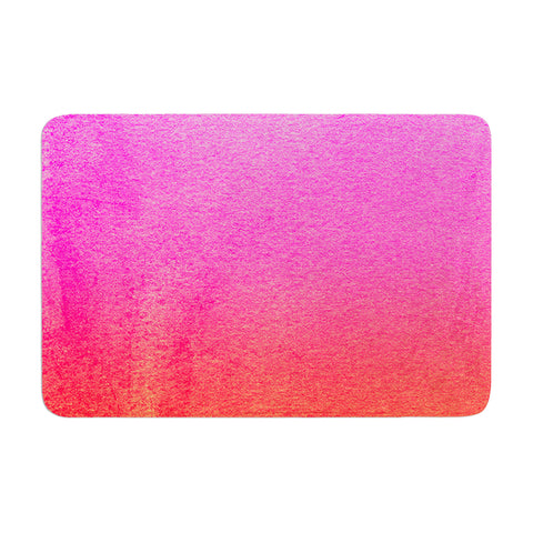 "Monika Strigel ""Fruit Punch"" Magenta Orange Memory Foam Bath Mat - Outlet Item"
