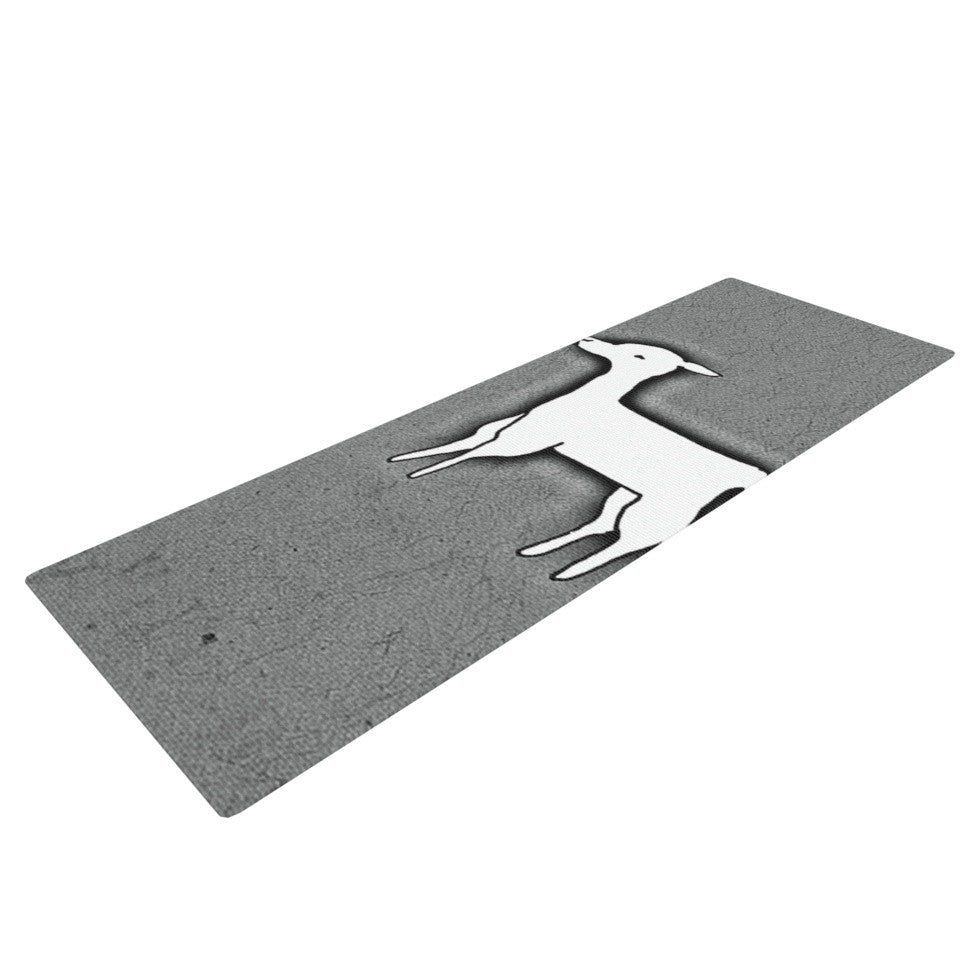 "Monika Strigel ""Llama One"" Grey Yoga Mat - KESS InHouse  - 1"