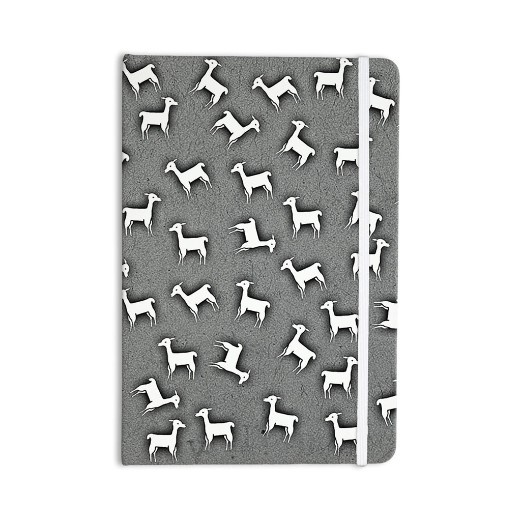 "Monika Strigel ""Llama Multi"" Gray Everything Notebook - KESS InHouse  - 1"
