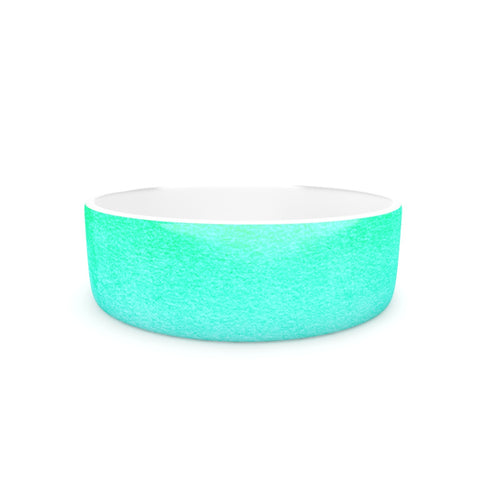 "Monika Strigel ""Blue Hawaiian"" Aqua Green Pet Bowl - Outlet Item"