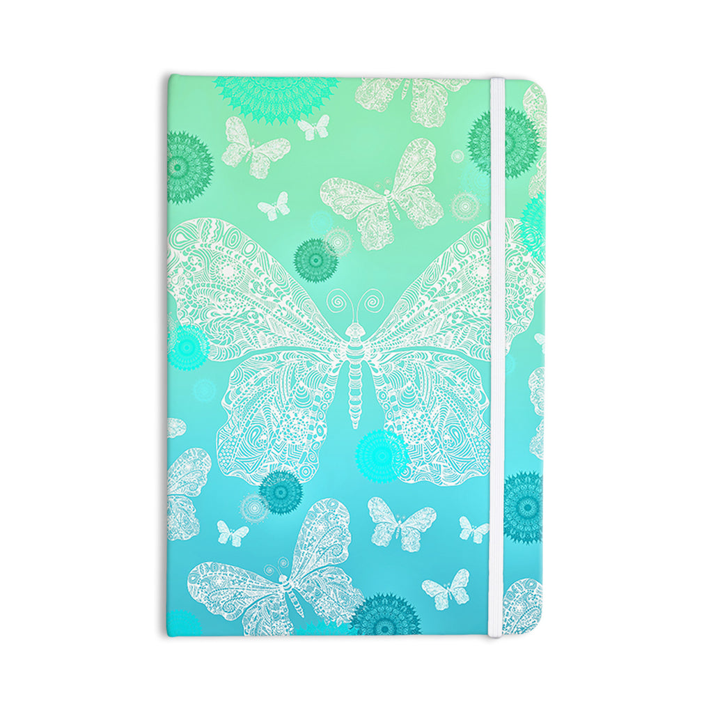 "Monika Strigel ""Butterfly Dreams Mint"" Aqua Teal Everything Notebook - KESS InHouse  - 1"