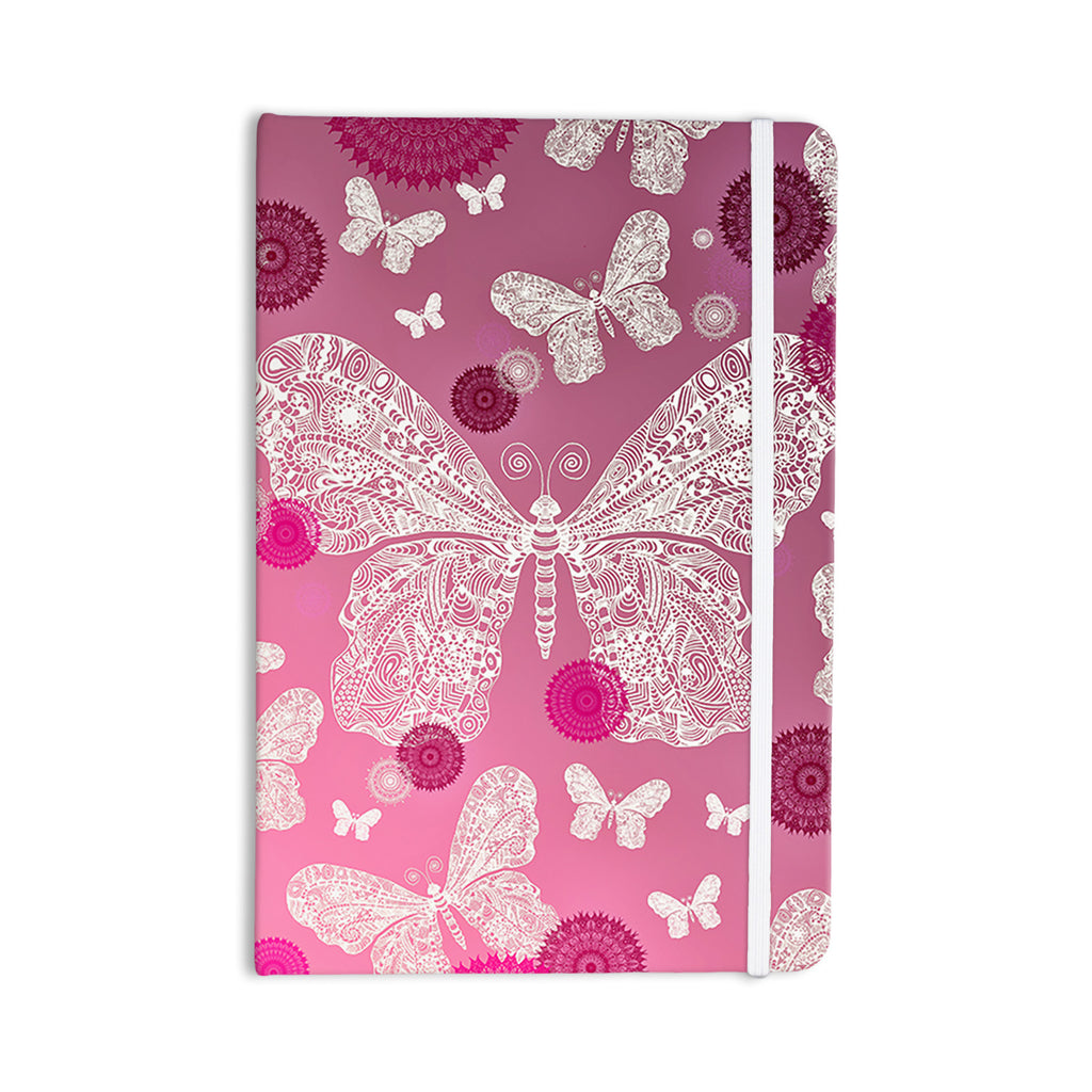 "Monika Strigel ""Butterfly Dreams Pink Ombre"" Magenta Everything Notebook - KESS InHouse  - 1"