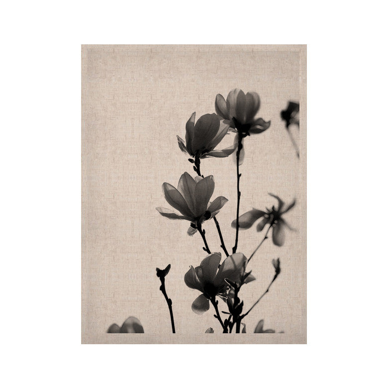 "Monika Strigel ""Mulan Magnolia"" White Gray KESS Naturals Canvas (Frame not Included) - KESS InHouse  - 1"