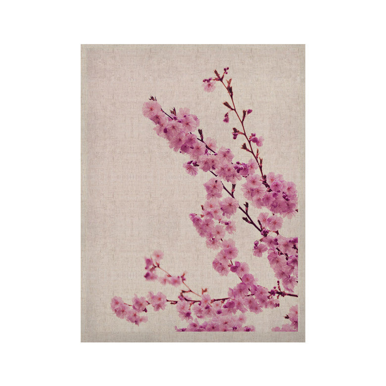 "Monika Strigel ""Cherry Sakura"" Pink Floral KESS Naturals Canvas (Frame not Included) - KESS InHouse  - 1"