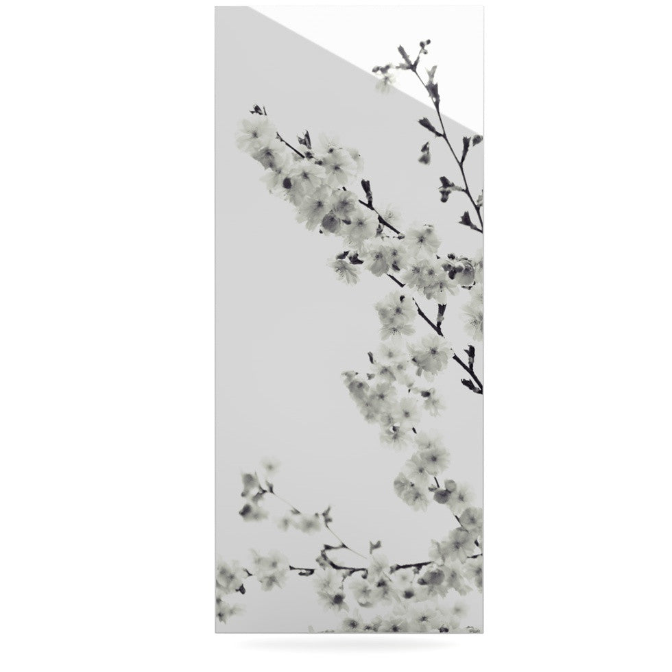 "Monika Strigel ""Cherry Sakura White"" Floral Nature Luxe Rectangle Panel - KESS InHouse  - 1"