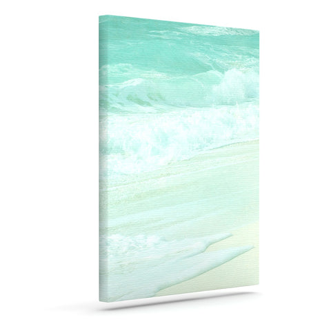"Monika Strigel ""Paradise Beach Mint"" Teal Green Canvas Art - Outlet Item"