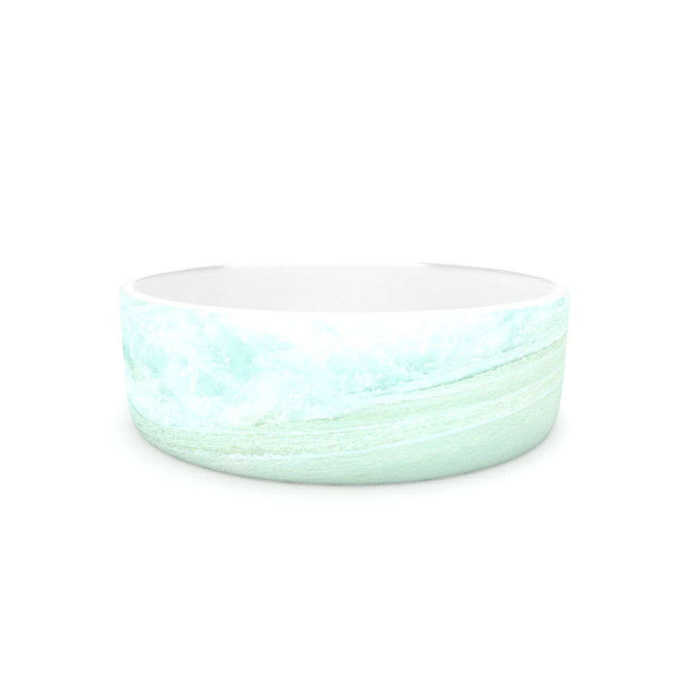 "Monika Strigel ""Paradise Beach Mint"" Teal Green Pet Bowl - KESS InHouse"
