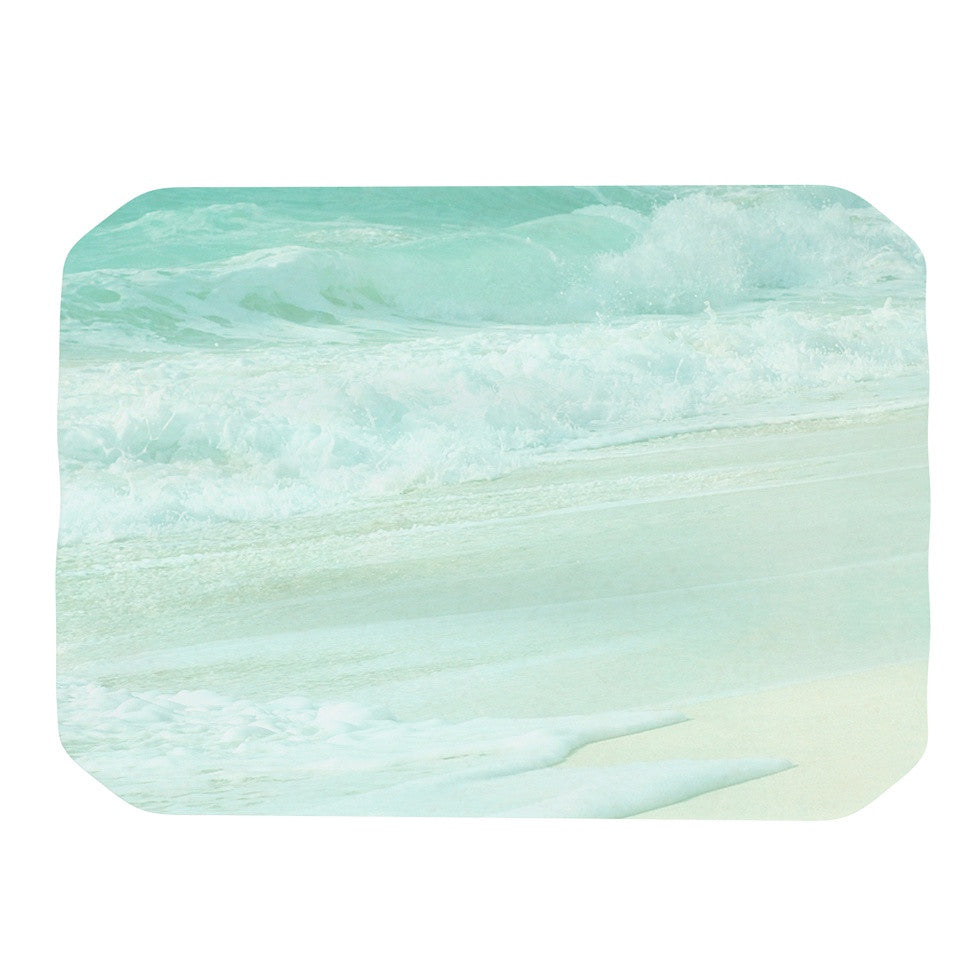 "Monika Strigel ""Paradise Beach Mint"" Teal Green Place Mat - KESS InHouse"