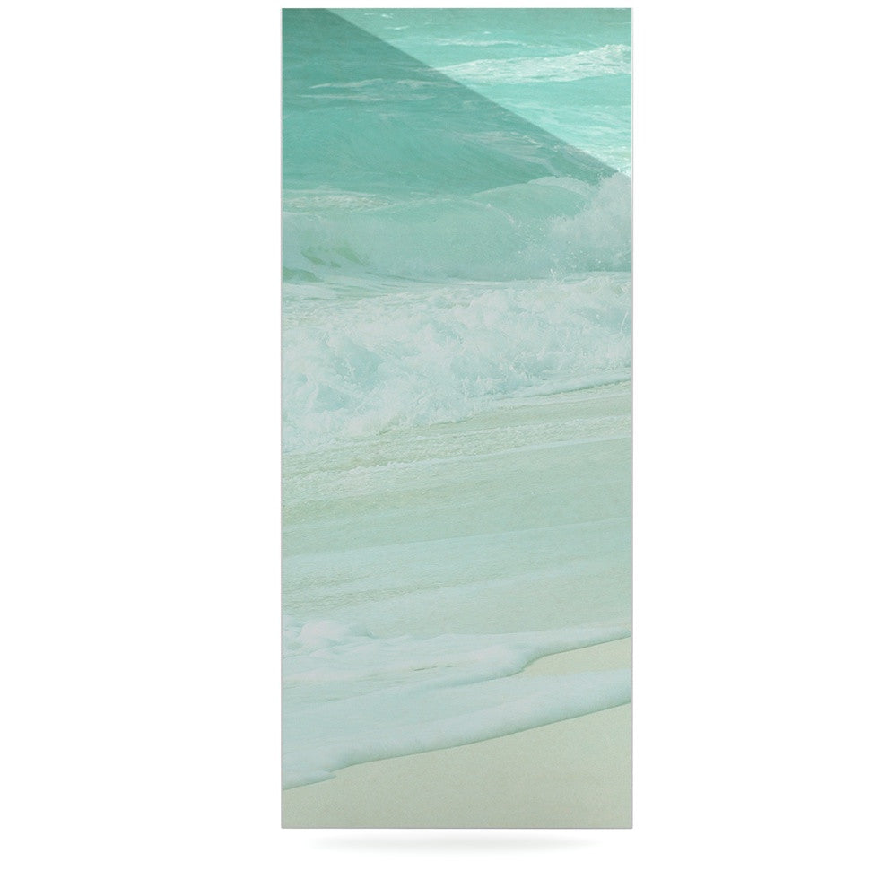 "Monika Strigel ""Paradise Beach Mint"" Teal Green Luxe Rectangle Panel - KESS InHouse  - 1"